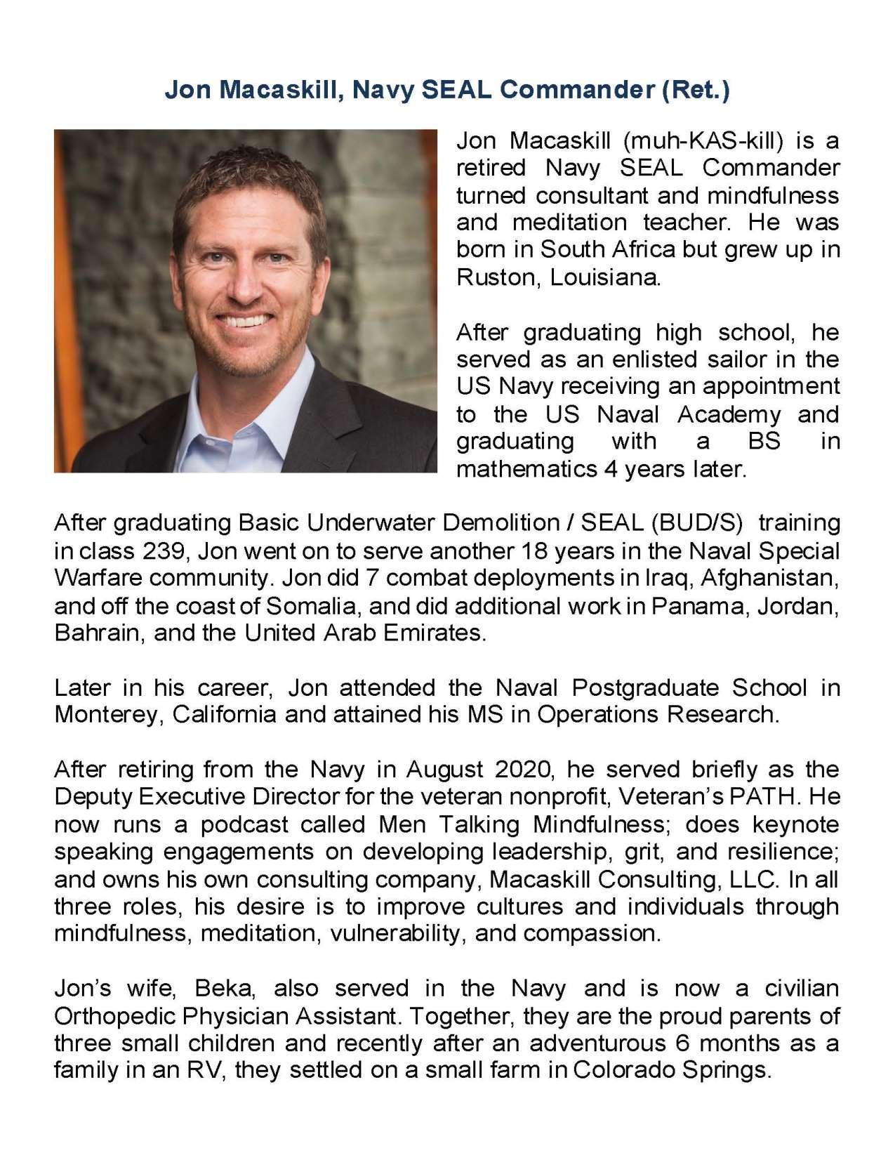 John Macaskill - Biography - updated 9-21